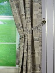 eos newspaper printed faux linen grommet curtain anquite curtain
