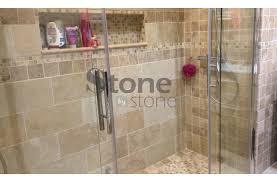 travertin salle de bain dallage travertin 20x40 1 2cm mix beige vieilli 1er choix
