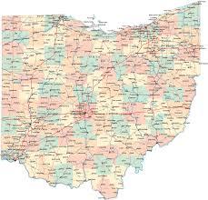 Cleveland Zip Code Map by Road Map Deko 2015