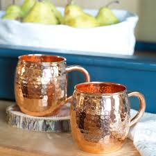 moscow mule mugs moscow mule copper cups set of 2 vivaterra