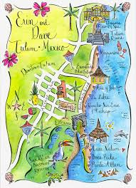 Mexico Maps Stephannie Barba Illustration Stephannie Barba Weddings