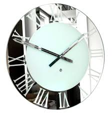 large mirrored wall clock vanity decoration