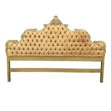 Hollywood Regency Hollywood Regency Style Gold Silk Tufted King Headboard At 1stdibs