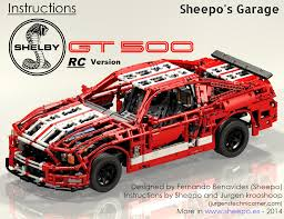 lego ford set sheepo u0027s garage ford mustang shelby gt500 intructions