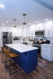 blue kitchen cabinets toronto before after my new york apartment kitchen renovation