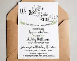 post wedding reception invitations wedding reception invitation we the knot elopement