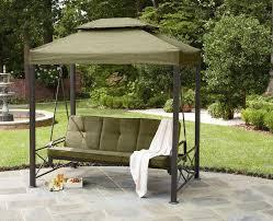 Patio Swing Frame by Outdoor Winning Gazebo Patio Swing Green Polyester Canopy Bronze