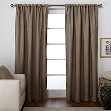 Curtain Rosettes Amazon Com Exclusive Home Curtains Bling Rod Pocket Window