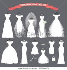 different wedding dress shapes wedding dress stock images royalty free images vectors
