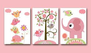 baby girl nursery print art kids wall room kids wall art baby girl room decor set zoom