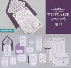 diy wedding invitation diy vintage wedding invitation suite in purple