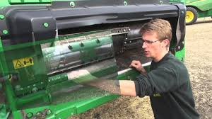 combine feeder house and header johndeere explained youtube