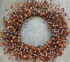 berry wreath 19 burgundy rosehip mixed berry wreath primitive