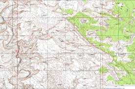 Topography Map Topographic Map Of Music Canyon San Rafael Swell Utah