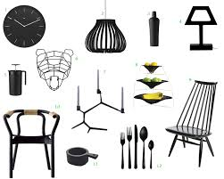 12 bold black modern home furnishings design milk
