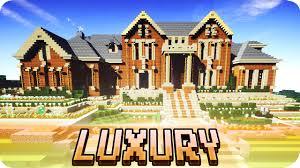 minecraft large luxury mansion brick house design with
