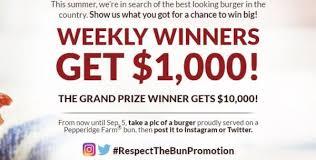 the bun pepperidge farm respect the bun sweepstakes 2017 2018