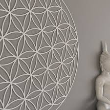Yoga Home Decor by Flower Of Life Sacred Geometry Wall Art Mandala Yoga