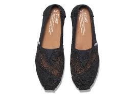 black moroccan crochet women u0027s classics toms
