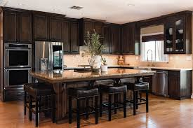 staining kitchen cabinets darker before and after traditional mediterranean custom kitchen cabinets in paso