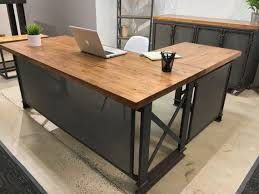 Modern Wood Office Desk Excellent Large L Shaped Desk Wood Stunning Ideas Throughout