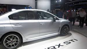 silver subaru wrx 2015 subaru wrx sti awd silver at the 2014 naias auto show youtube