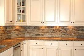 Stone Backsplashes For Kitchens Decorating Entrancing Hoeizontal Backsplashes For Kitchen Design