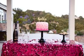 Party Tables Linens - happy saturday sequin tablecloth pink sequin table linens