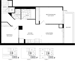 Barrington Floor Plan by The Barrington Condominium Flats