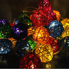 rattan ball fairy lights led 4 metres multi coloured battery powered rattan ball fairy lights