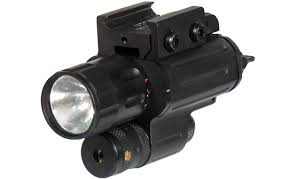 laser and light combo compact xenon light with aiming adjustable red laser combo
