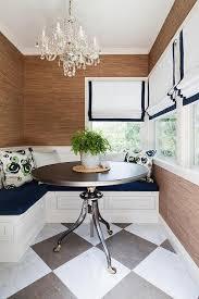 white and blue breakfast nook design ideas