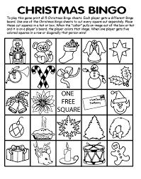 christmas bingo board no 4 coloring page crayola com