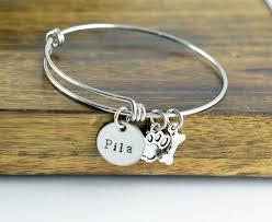 personalized bangle bracelets dog bracelet personalized bangle bracelet paw print bracelet