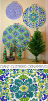 giant glittered ornaments from quilting hoops dream a little bigger