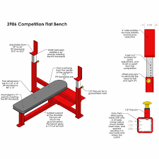 Olympic Bench Press Dimensions Fitness Competition Flat Bench Press 3906