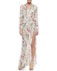 hippie jumpsuit haute hippie floral print jumpsuit with maxi skirt