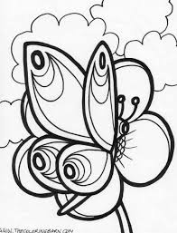 butterfly flowers coloring pages silly printable book