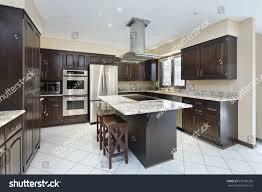 stove in kitchen island kitchen suburban home stovetop island stock photo 553185736