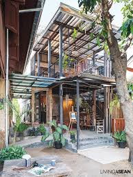 loft style home built out of much older thai houses living