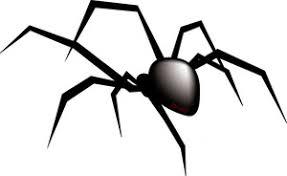spider black white halloween hanging spider clipart free