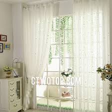 White Sheer Curtains Organic Room White And Silver Sheer Curtains