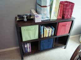 ana white jacobean 6 cube bookshelf for our nursery diy projects