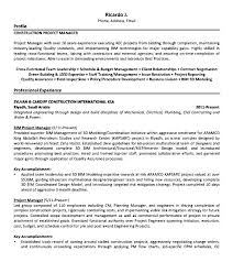 project manager sample resumes sample resume senior project manager construction to write a short