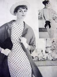 1950s stunning slim dress and coat pattern vogue couturier design