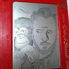 conan o u0027brien etch a sketch art created by yours truly my art