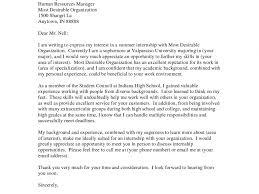 Cover Letter Internship Example Cover Letter For Interior Design Internship Gallery Cover Letter