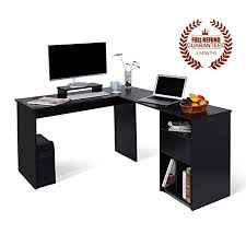 Corner Pc Desk L Shaped Office Computer Desk Large Corner Pc Table With Monitor