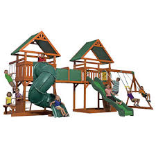 Backyard Adventures Price List Backyard Discovery Grand Towers All Cedar Swing Set Bj U0027s