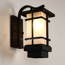 Exterior Wall Sconce Simple Wrought Iron Waterproof Outdoor Wall Sconces